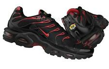 Nike Air Max Plus Tuned 1 Tn Mens Trainers Black Diablo Red Grey Hate 604133