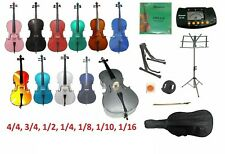 New Cello,Bag,Bow+Rosin,Strings,Metro Tuner,2 Stands,Mute~Student,Beginner,Toy