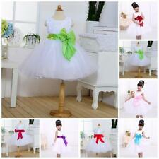 Princess Toddler Baby Party Pageant Girl Wedding Tulle Bowknot Tutu Dress Skirts