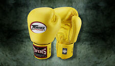 MUAY THAI KICK BOXING GLOVES TWINS SPECIAL MMA 8 10 12 14 16 18 OZ BGVL-3 GOLD