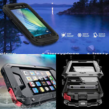 Black Metal Aluminum Water Shock Dust Proof Hard Rubber SmartPhone Case Cover