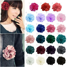Chiffon Fabric Flower Hair Clips Grips Slides Ponytail Hair Bobbles Pin Girls