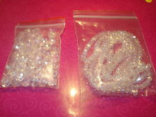 SWAROVSKI RONDELLE FACETED CRYSTAL BEADS MIXED SIZES OF CLEAR AB IN 3&6&8MM(USA)