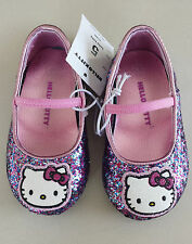 Toddler Girls Hello Kitty Glitter Ballet Slip on Shoes  Mary Jane Style