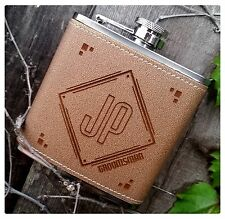 Personalized Engraved Hip Flasks, Initials Best Man Groomsmen gifts Party Drink