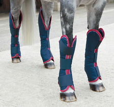 Shires Travel Boots Navy/Red/White **PONY COB FULL**