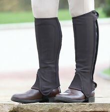 Shires Synthetic Nubuck Half Chaps Childs Horse Riding Chaps ALL SIZES BLACK OR