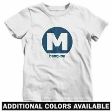 Bangkok Metro Kids T-shirt - Baby Toddler Youth Tee - MRT Subway Logo Thailand