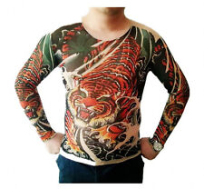 Tattoo Shirt Mesh Sleeves Temorary Arm Body Art  Sport T-Shirt Tiger  ST-14