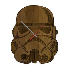 Stormtrooper - Star Wars Laser Engraved Artisan Wood Clock in Cherry and Walnut
