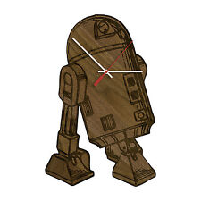 R2-D2 - Star Wars Laser Engraved Artisan Wood Clock in Cherry and Walnut