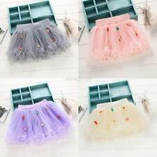 Girls Kid Tutu Skirt Toddler Child Baby Dancewear Ruffle Fluffy Pettiskirt Dress