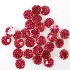 300/1500x Shining Faceted Round Charms Stick-on Resin Flatback Embellishment 7mm