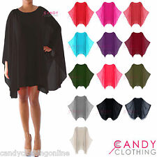 Ladies Baggy Oversize Plus Size Batwing Dress Tunic Top Blouse Size 10 12 14 16