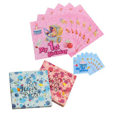 Birthday 32cm Luncheon Napkins 2ply Serviettes Tableware Party Supplies Colours