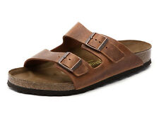 Birkenstock Oiled Leather Arizona $179.95rrp Antique Brown 35 Narrow BNIB