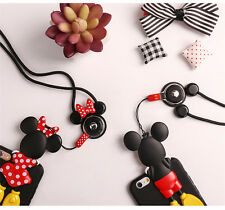 3D Cute Cool cartoon cat minnie mickey mouse for Mobile Phone Neck Strap Lanyard