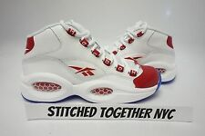 (J98948) GRADE SCHOOL YOUTH REEBOK QUESTION MID WHITE/PEARLIZED RED