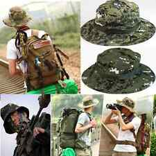 Camo Bucket Hat Boonie Hunting Fishing Outdoor Cap Wide Brim Military Unisex New