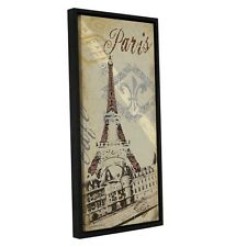 ArtWall Jo Moulton's Paris, Gallery Wrapped Floater-framed Canvas. Shipping Incl