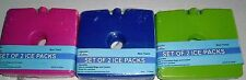"REUSABLE ICE PACKS Set Of 2 Ice Packs- 5 1/4"" x 5"" x 1/2"" Assorted Colors"