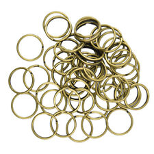 50pcs Key Rings Chains Split Ring Hoop Metal Loop Accessories Antique Bronze