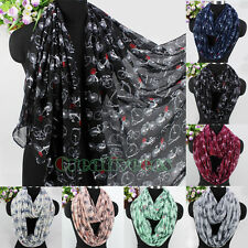 Women's Fashion Scarves Bicycle Pattern Long Scarf Wrap Shawl/Infinity Scarf New