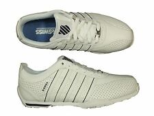 MENS TRAINERS K.SWISS ARVEE1.5 03941-173-M WHITE LACE UP LEATHER ALL SIZES 6-12