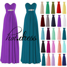 New Stock Formal Prom Ball Party Evening Gown Long Wedding Bridesmaid Dress 6-18