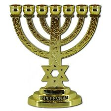 Magen David Candle holder 12cm Menorah gold plated star of David Judaica gift