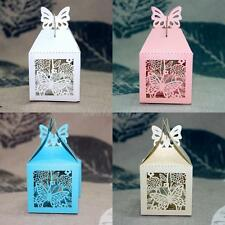 50pcs Wedding Sweets Bags Butterfly Laser Cut Wedding Favor Candy Gifts Boxes