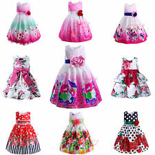 Toddler Kids Baby Girl Flower Princess Dress Formal Pageant Wedding Birthday New