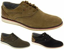 Mens Suede Leather S.Oliver Oxford Lace Up Work Desert Shoes New Size 7 8 9 10
