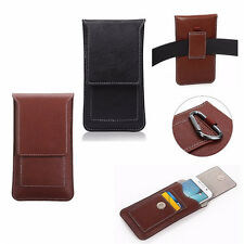 Faux Leather Cell Phone Wallet Bag Purse Pouch Sleeve Case Card Pocket For Apple