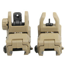 Tactical Folding Front & Rear Set Flip Up Backup Sights BUIS 20m rail Gen1