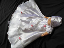 Reborn/Baby Girl Satin Christening Gown Baptism Dress  Size  0-3 3-6 6-12 M