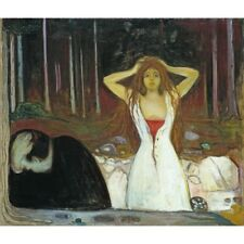 Edvard Munch - Ashes 1895 Classic Art Vintage-Style Poster