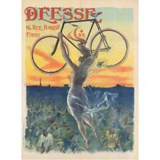 Deesse 1898 Paris French Bicycle Advertisement Vintage-Style Poster
