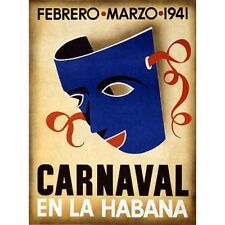 Canaval En La Habana 1941 Cuba Travel Advertisement Vintage-Style Poster