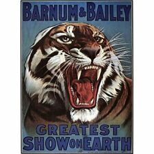 Barnum & Bailey Circus Greatest Show on Earth Roaring Tiger Vintage-Style Poster
