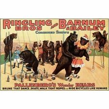 Ringling Bros Barnum & Bailey Circus Pallenberg's Bears Vintage-Style Poster