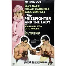 Myrna Loy The Prizefighter And The Lady 1933 Boxing Vintage-Style Movie Poster