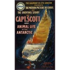 Capt. Scott and Animal Life in the Antarctic 1914 Vintage-Style Movie Poster