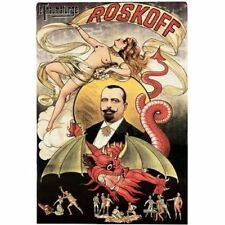 Le Thaumaturge Roskoff Red Dragon 1894 Magic Magician Vintage-Style Poster