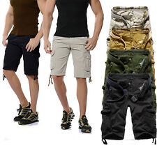 New Fashion Mens Summer Army Combat Camo Work Cargo Shorts Pants Trousers 1/2