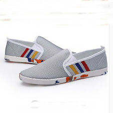 Fashion Men's Slip On Loafers Mesh Casual Sneakers Breathable Running Shoes Z31