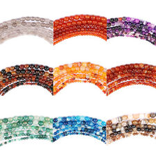 1 String Agate Stripe Nature Colors Gem Necklace Jewelry Round Loose Stone Bead