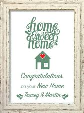 Home Sweet Home Print Picture Xmas Birthday Gift PERSONALISED Shabby Chic #6