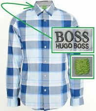 NWT Hugo Boss Green Label by Hugo Boss Check Pattern Sporty Long Sleeves Shirt
