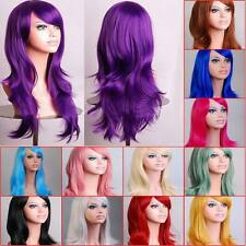 Womens Lady Long Hair Wig Curly Wavy Synthetic Anime Wig Hairpiece Cosplay Party
